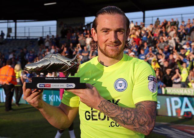 Jack Marriott with his Sky Bet League One Top Goalscorer award - Mandatory by-line: Joe Dent/JMP