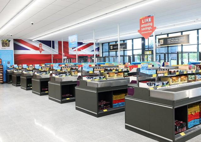Inside Aldi's newest Peterborough store - at Eye Road.
