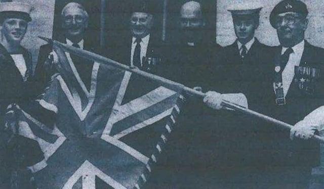 Robert Larder, Mayor Geoff Ridgway, Parade Marshall Sydney Martin, Mr Bates, Samantha Wilson, Bill Keighley. All photos supplied by the Royal British Legion