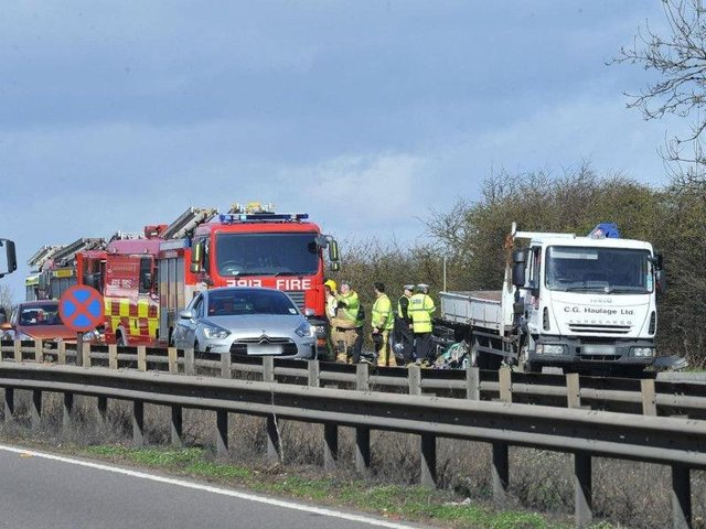 A previous crash on the A1 near Wittering