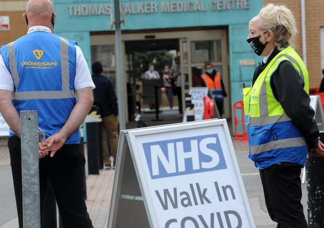 The first Walk-in Covid 19 vaccination session at the Thomas Walker Medical Centre, Princes Street, Peterborough on Saturday.
