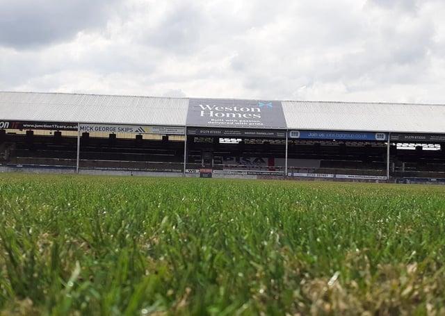 The Weston Homes Stadium pitch.