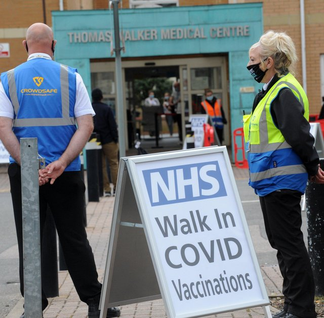 Walk-in Covid 19 vaccination centre at the Thomas Walker Medical Centre, Princes Street, Peterborough EMN-210620-170049009
