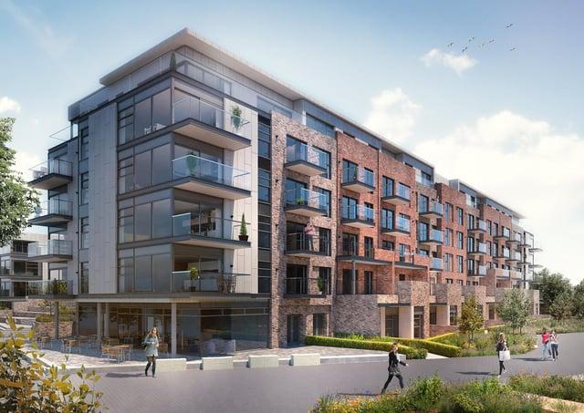 The Nene Wharf luxury apartments development at Fletton Quays.