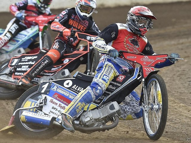 Bjarne Pedersen clinched the win for Peterborough Panthers