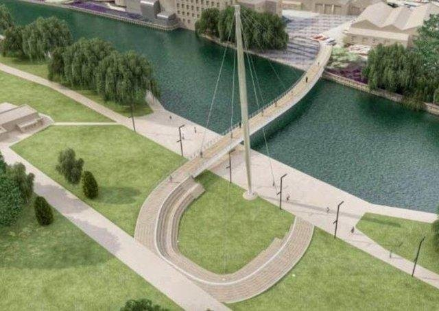 The Towns Fund includes plans for a bridge over the River Nene linking Peterborough's new university to the Fletton Quays development
