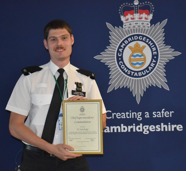 Commended for saving the life of a vulnerable man.