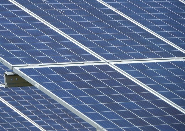 Solar panels: Stock image