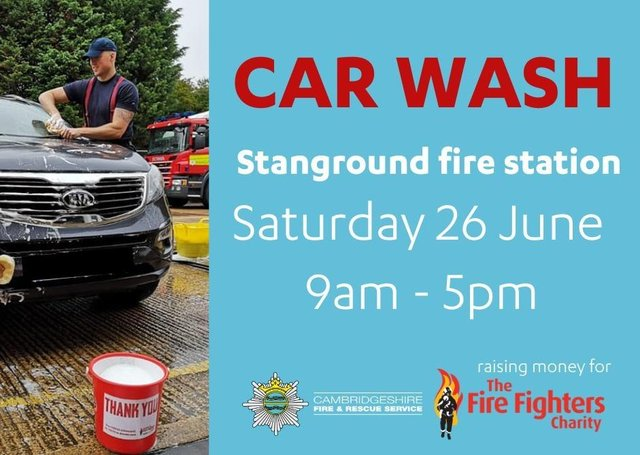 Details of the charity car wash