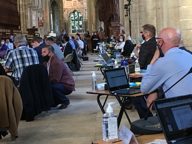 This week's full council meeting took place at Peterborough cathedral.