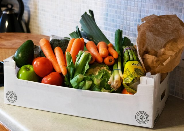 The box of vegetables to feature in the advert.
