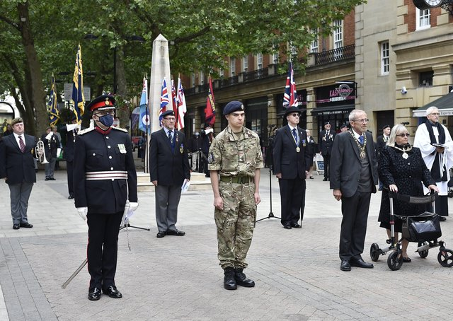 The service at the war memorial