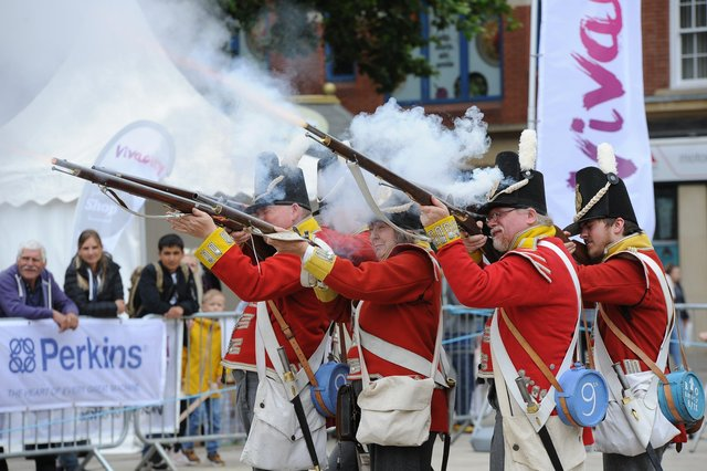 Napolionic Wars re-enactment at the Heritage Festival EMN-180617-215408009