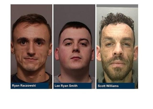 Three of the jailed men