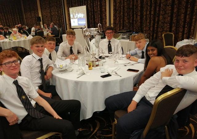 Milton Golf Club's all-conquering junior side, from left, Kai Raymond, Ollie Clark, Matty Mills,  Euan Herson (captain), Jacob Williams, Charlie Pearce, Shivani Karthikayen, Rylan Thomas.