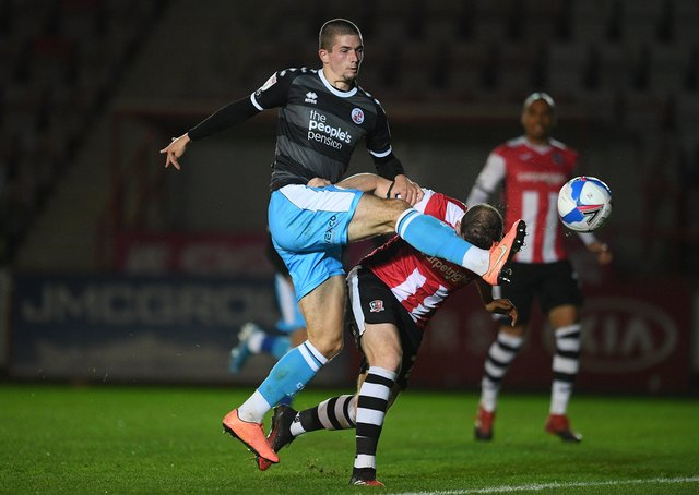Max Watters in action for Crawley last season. Photo: Harry Trump/Getty Images.