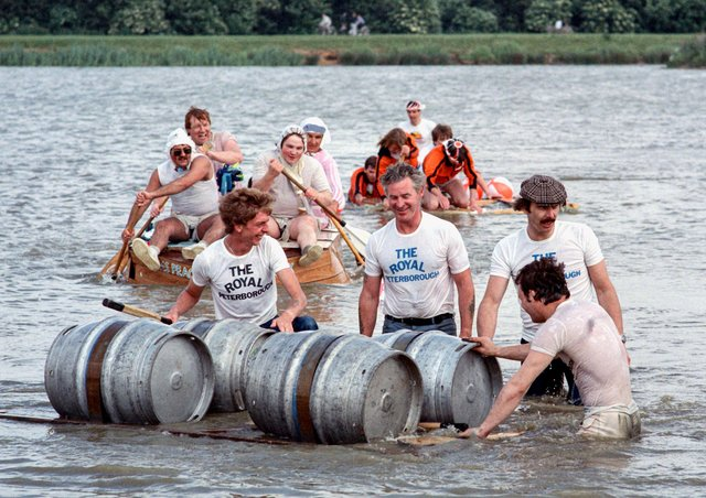 Do you recognise anyone in this raft race at Ferry Meadows in the 80s?