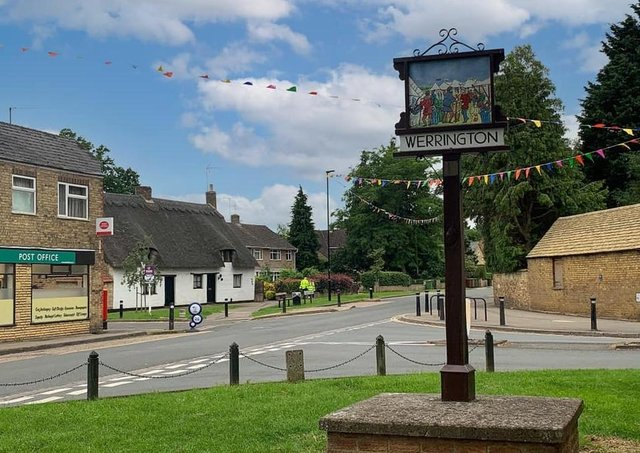 The bunting has gone up in Werrington village ready for the weekend's trail.