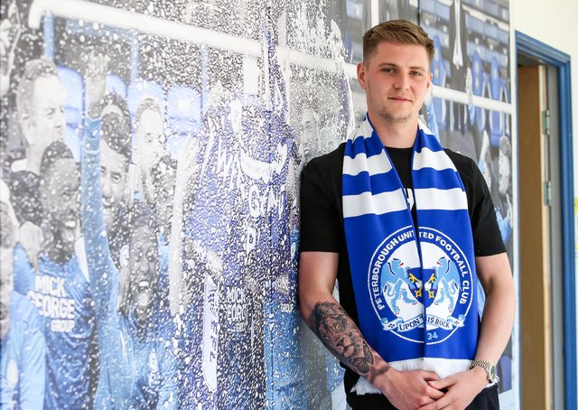 Josh Knight after signing for Posh.