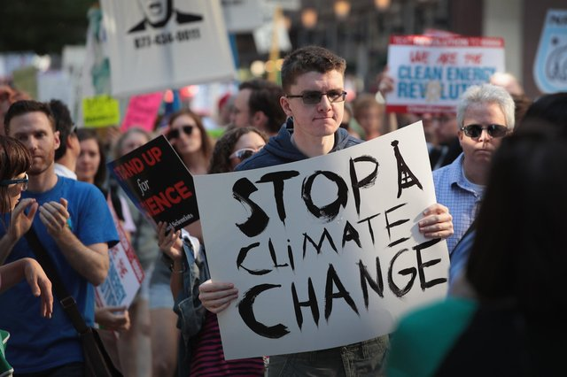 A climate change protest: (Photo by Scott Olson/Getty Images) PNL-190212-131154003