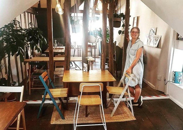 Blonde Beet in St Paul's Street, Stamford, has welcomed its first sit-down diners.