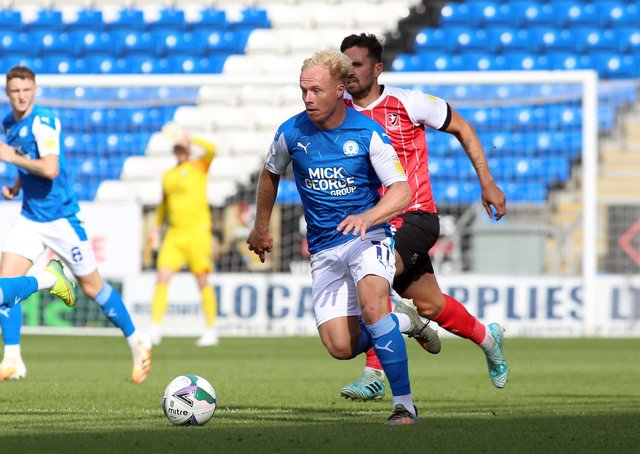 Ryan Broom in action for Posh.