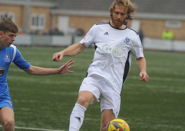 Craig Mackail-Smith in action for Bedford Town last season.