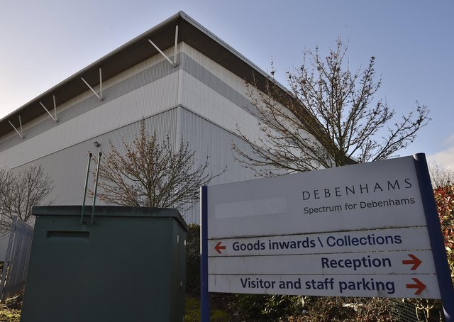 Debenham's warehouse at Kingston Park, Hampton. EMN-200112-124240009