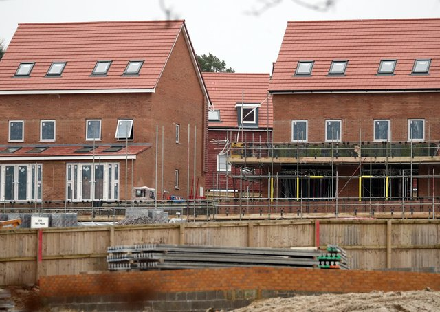 Building work on new homes in Peterborough accelerated at the start of the year, figures reveal. Photo: PA EMN-210907-123738001