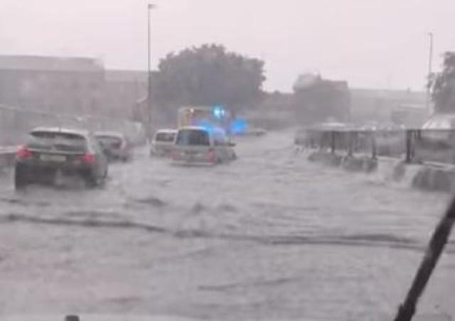 Roads in Peterborough hit by flooding last week