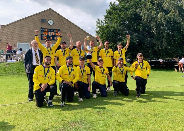 Peterborough Town with the Northants Championship T20 Trophy.