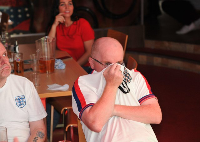 The result was tough to take for fans at Coyote's in Peterborough.