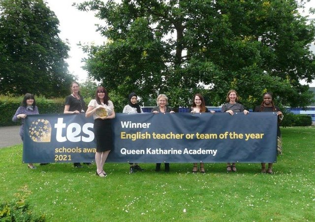 The English department at Queen Katharine Academy