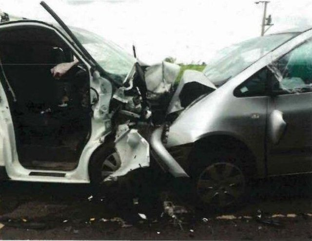 Cambridgeshire Police released images of the crash