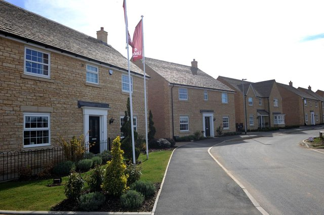 A street scene at Linden Homes' Kingsley Place development in Barnack