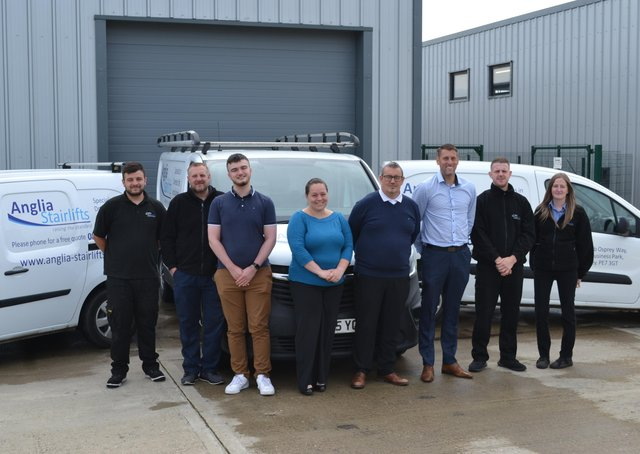 The new team at Anglia Stairlifts.