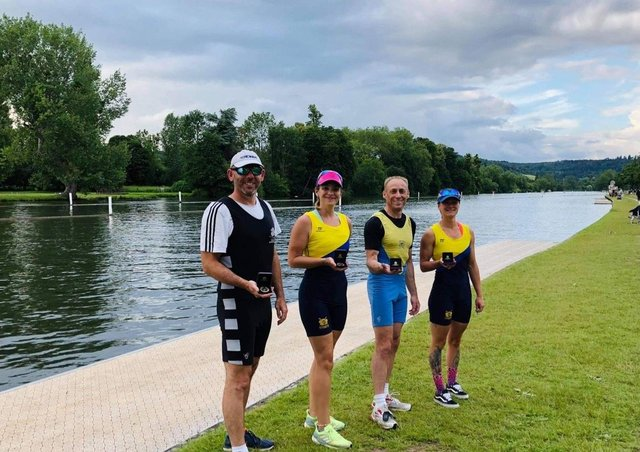Henley Masters winners, from left, Dave Smith, Gemma Singleton, Ian Palmer and Kate Read.