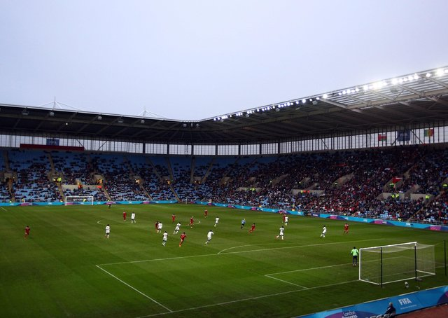 Football at the Ricoh Aresna. Photo: Getty Images