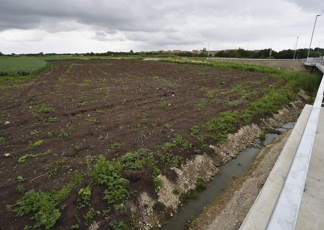 Farmland behind Horsey Toll Bridge on Whittlesey Road, Stanground which could be set for development. EMN-210713-162147009