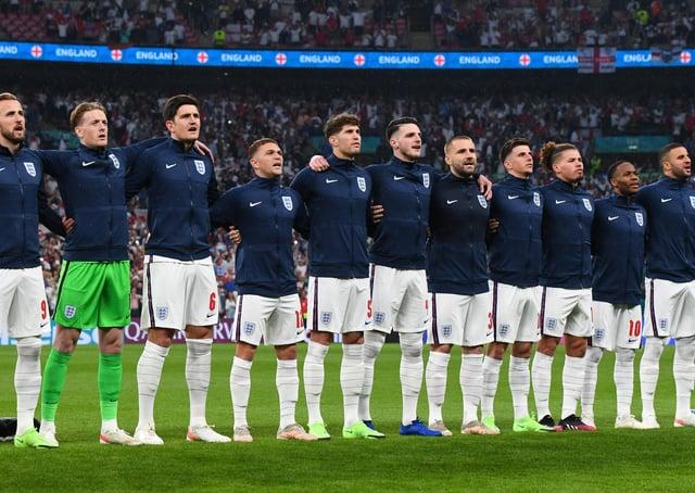 England came so close. (Photo by Claudio Villa/Getty Images) SUS-210713-122921003