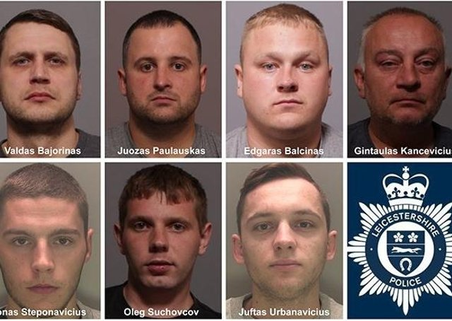 Members of the organised crime group sentenced to over 30 years in prison in total.