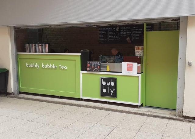 Bubbly Bubble Tea at Ortongate Shopping Centre.