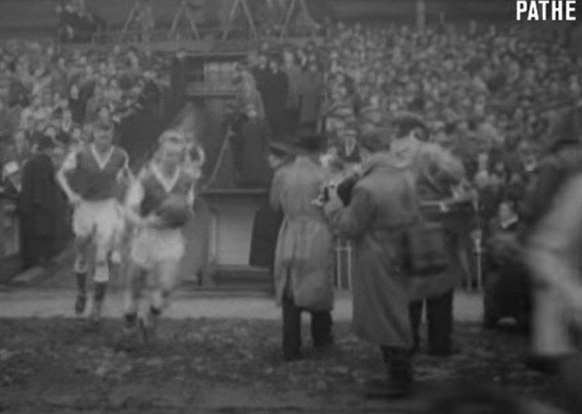 Pathe archive footage of Sheffield Wednesday versus Peterborough United in the FA Cup in 1960.