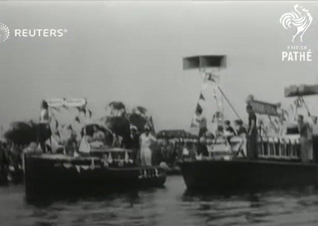 Rarely seen footage of Peterborough regatta is in the Pathe news archive.