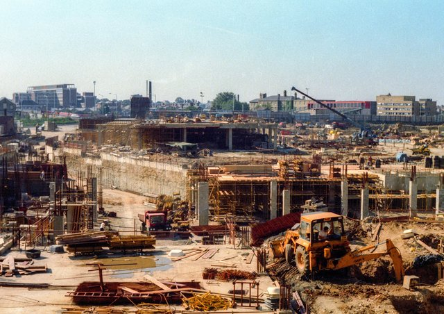 Chris Porsz took this image of Queensgate underconstruction.