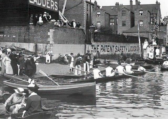 The Peterborough  regatta in 1914. Pic courtesy www.peterboroughimages.co.uk