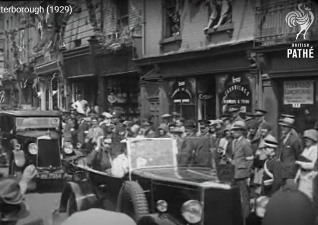 Historic Pathe News footage of Peterborough.