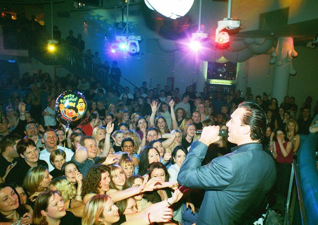 Martin Kemp at Peterborough's Liquid nightclub in 2001