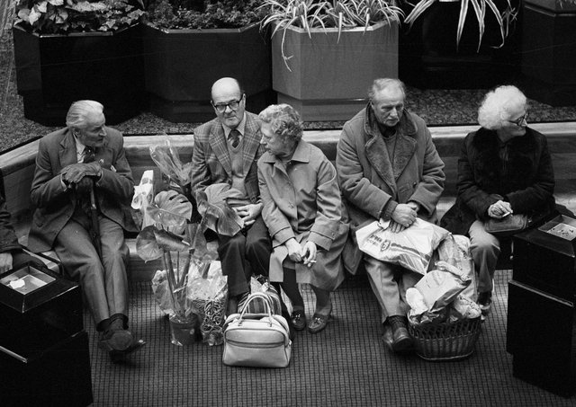 Do you recognise anyone in this picture taken by Chris Porsz in Queensgate in the 80s?
