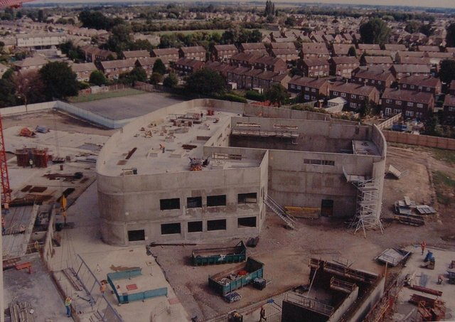 The Voyager school building site.